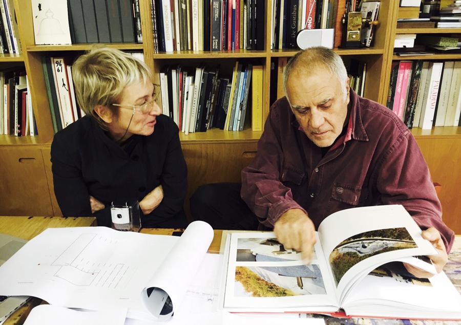 Ottobre 2015: Laura Peretti incontra il maestro Mimmo Paladino